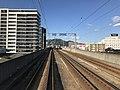View of Yukuhashi Station from train for Nogata Station.jpg