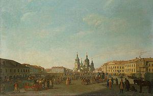 Sennaya Square - Vintage view of Sennaya Square by Benjamin Patersen.