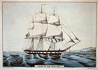 Vincennes-sloop-Currier-Ives
