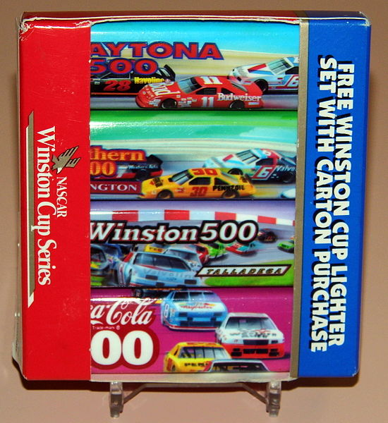 File:Vintage Nascar Winston Cup Seriess Cigarette Lighter Set, Free With Carton Purchase Of Winston Cigarettes (14293950123).jpg