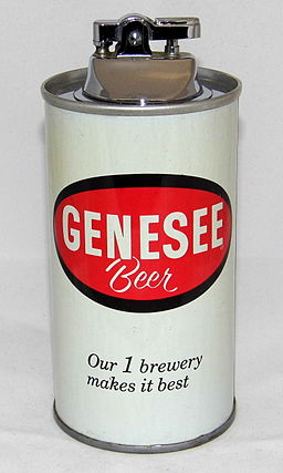 Vintage Novelty Cigarette Lighter - Genesee Beer Can (Our 1 Brewery Makes It Best) (16167866172)