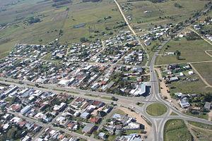 San Jacinto, Uruguay - Image: Vista aerea cruce rutas 7 y 11 en San Jacinto