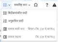 VisualEditor Toolbar Lists and indentation-mr.png