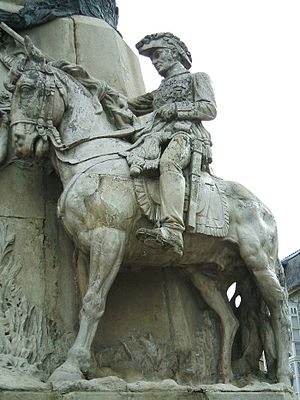 Miguel Ricardo de Álava y Esquivel - Equestrian statue of the General in the Monument to the Battle of Vitoria (1813), Vitoria, Spain.