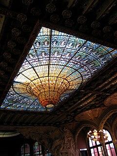 Vitrall del sostre del Palau de la Música Catalana