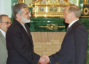 Kamal Kharazi - Kharazi in a meeting with Vladimir Putin