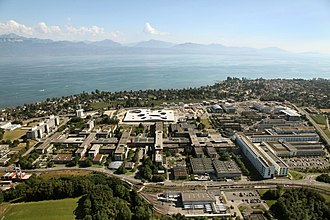 Lausanne campus - The EPFL, on the west part of the Lausanne campus, on the shore of Lake Geneva