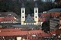 Würzburg, Blick von der Festung Marienberg zur Kirche St. Stephan.jpg