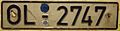 WEST GERMANY, OLDENBURG, 1984 -SHORTER EARLY REFLECTIVE PLATE, PASSENGER - Flickr - woody1778a.jpg