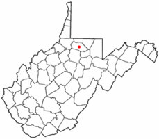 Location of Farmington, West Virginia