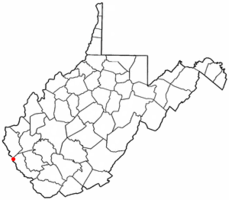 Location of Kermit, West Virginia