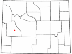 Location of Boulder, Wyoming
