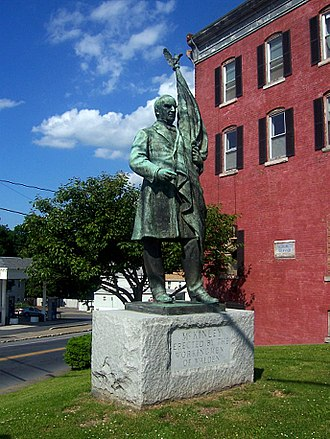 New York State Route 208 - Statue of President William McKinley at junction of 208 and 52 in Walden