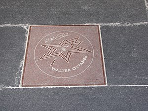 Walter Ostanek's star on Canada's Walk of Fame