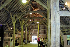 Wanborough, Surrey - Image: Wanborough barn 1 20060909