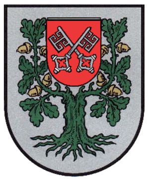 Archbishopric of Bremen - The coat of arms of the Bremian municipality Hagen im Bremischen shows in the middle the coat of arms of the Prince-Archbishopric of Bremen.