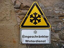 Warnhinweis eingeschränkter Winterdienst