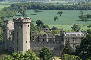 Piers Gaveston, 1st Earl of Cornwall - View of Warwick Castle from St Mary's Church