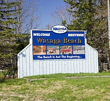 Wasaga Beach Town Sign On Highway 26 In The West End Of Has Since Been Relocated To S New Byp