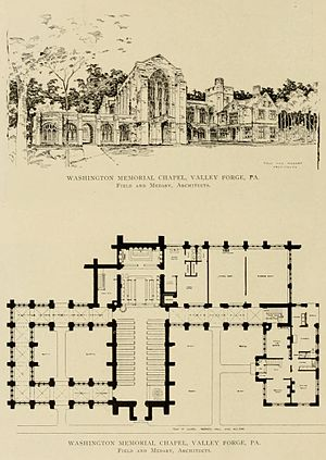 Washington Memorial Chapel - Medary's original plan (1908).
