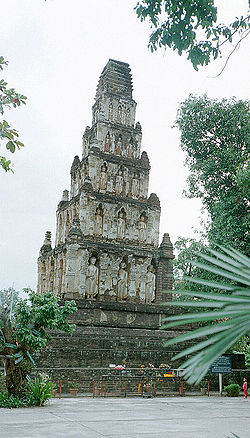 A square chedi in Lamphun
