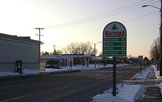Wautoma, Wisconsin - Image: Wautoma sign