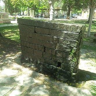 Sierra Madre Memorial Park - Image: Weeping Wall Veterans Memorial Sierra Madre