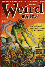 Weird Tales cover image for November 1947