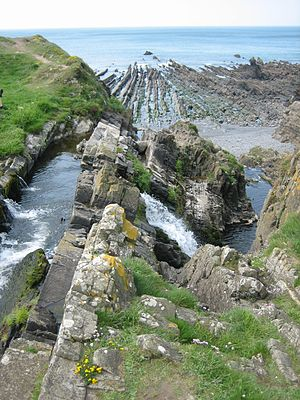 Welcombe -  Water Falls at Welcombe Mouth