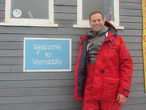 Vernadsky Research Base - Image: Welcome Sign at Vernadsky Station