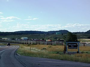 Guernsey, Wyoming - Image: Welcome to Guernsey, Wyoming panoramio
