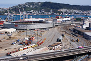 Wellington rail yard stadium and port