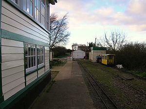Wells on Sea railway station - Wells railway station, 2014