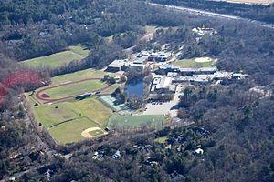 Weston High School (Massachusetts) - Weston High School campus and athletic fields