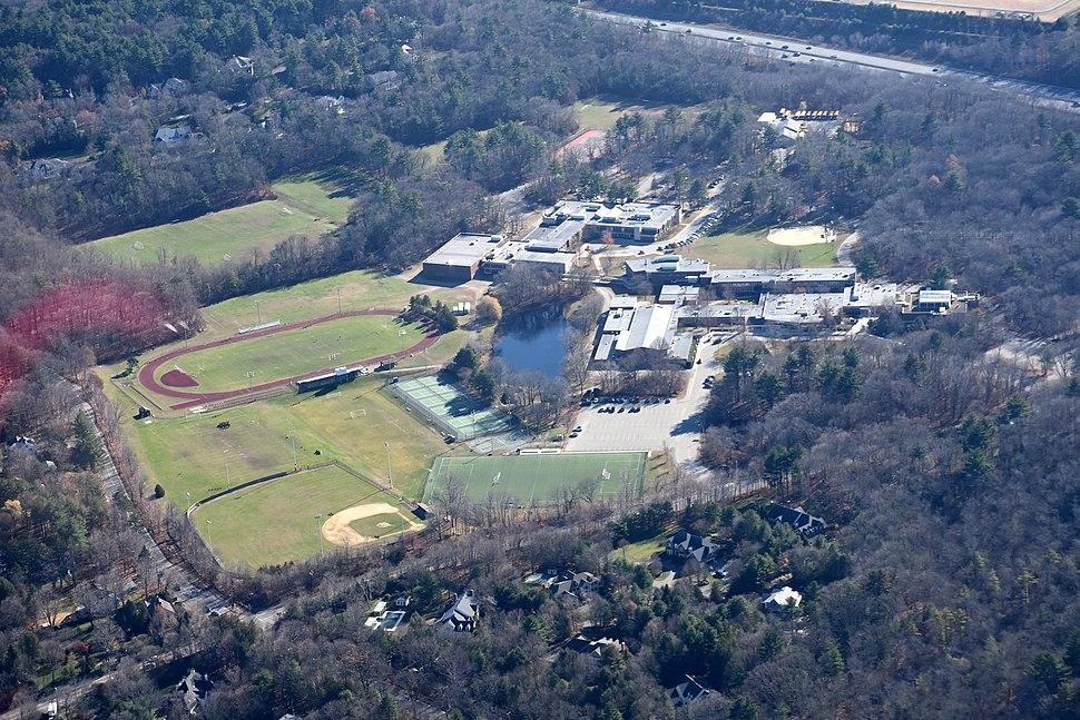 Weston High School aerial
