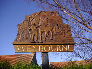 Weybourne, Norfolk - Image: Weybourne Village sign