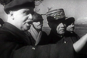 Maurice Gamelin - Gamelin (in kepi) seen in Frank Capra's film Divide and Conquer