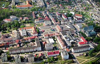 Wieluń Place in Łódź Voivodeship, Poland