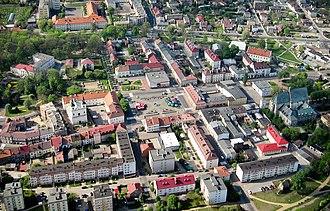 Wieluń - Image: Wielun z lotu ptaka
