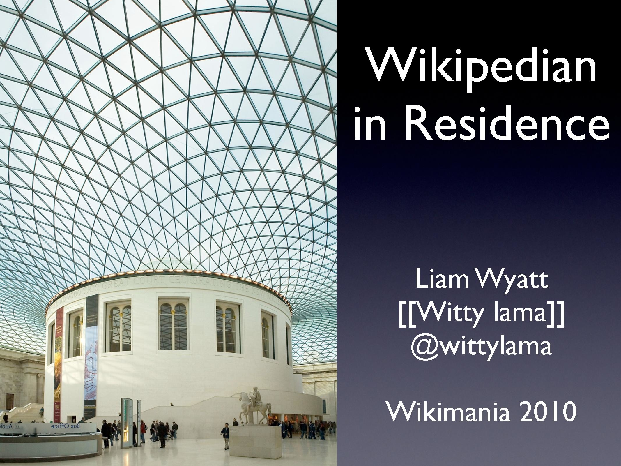 Wikipedian in Residence, Wikimania 2010.pdf