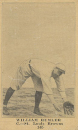 Bill Rumler - Rumler spent three seasons in the major leagues, all with the St. Louis Browns.
