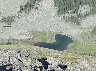 Williams Lake (New Mexico) - Image: Williams Lake from Wheeler Peak