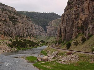 Wind River Canyon - View of Wind River Canyon