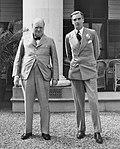 Winston Churchill, Anthony Eden, Sillery, 1943.jpg