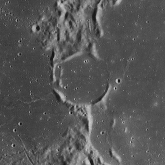 Winthrop (crater) - Lunar Orbiter 4 image