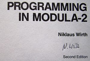 Niklaus Wirth - Signature of Niklaus Wirth