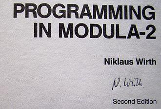 Niklaus Wirth - Signature of Niklaus Wirth