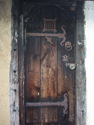 Bricket Wood coven - Close up of door.