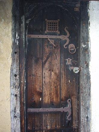 Bricket Wood coven - Close up of door.