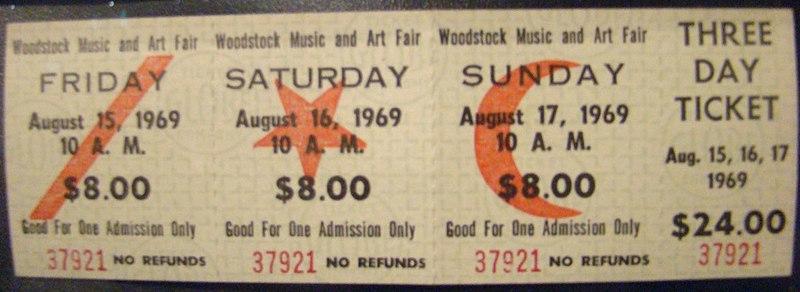 Woodstock vstupenka